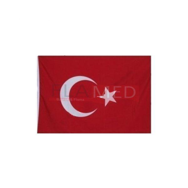 Kumaş Sopalı Türk Bayrağı